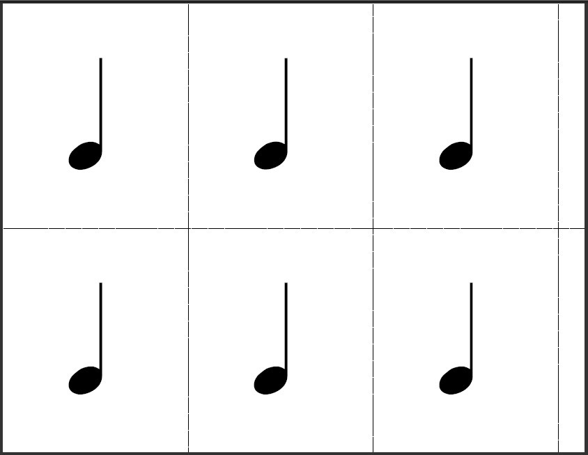 graphic about Printable Music Notes Flashcards called Flashcards - The Train Shoppe